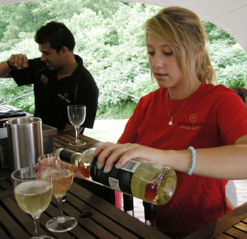 Wine Pouring At Jackson-Triggs
